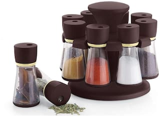 SRK 8-Jar Revolving Spice Rack Masala Box ( Color - Assorted)
