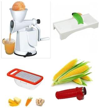 SRK Standard Fruit Juicer With Freebie Corn Cutter, Cheese Grater, Ginger Slicer