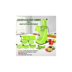 SRK Juicer & Slicer Combo + Free Multi Cutter with Peeler
