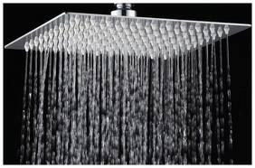LOGGER - 4 inch X 4 inch ULa Slim Square Shower Head