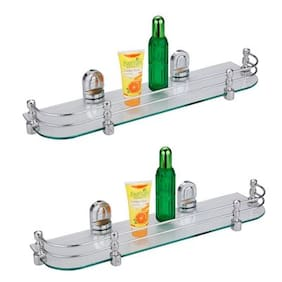 LOGGER - Glass Shelve set of 2 pcs (Size :- 50.8 cm (20 inch))
