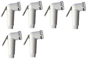 LOGGER-Health Faucet Gun Set of 6 pcs (Material:- PVC, Model:- Square)