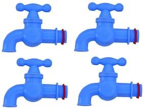 LOGGER - Plastic Tap Set of 4 pcs (Type :- Small TP, Color :- Blue)