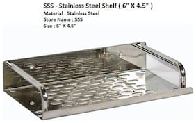 LOGGER - Stainless Steel Wall Mounted Shelf  (Size: 6 X 4.5)