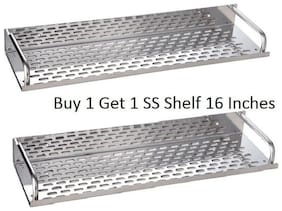 LOGGER - Stainless Steel Shelf (Buy 1 Get 1) (Size: 16 X 4.5)