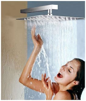 LOGGER - ULa Thin Shower 30.48 cm (12 inch) Head with 45.72 cm (18 inch) Square Arm