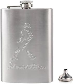 Stainless Steel Johnnie Walker Hip Flask