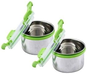 VAGMI Stainless Steel Silver Mixing bowl ( Set Of 2 )