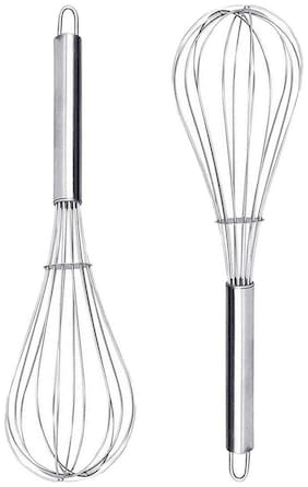 Honest Stainless Steel Silver Egg Tools ( Set Of 2 )