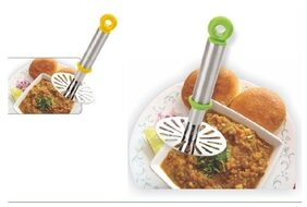 Stainless Steel Potato Vegetable Pav Bhaji Masher, Multicolour