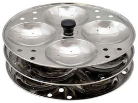 Stainless Steel Idli Stand 3 plate Standard Idli Maker (3 Plates, 12 Idlis)
