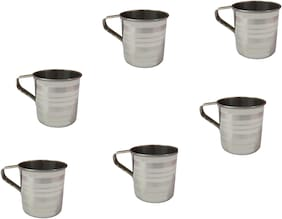 Stainless Steel Cup for Serving Tea;Coffee (6 Pc.)