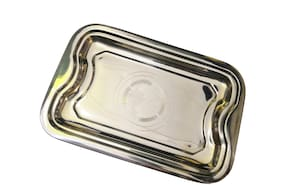 Stainless Steel Serving Tray (Small Size) for serving water and dishes