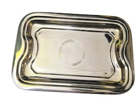 Stainless Steel Serving Tray (Large Size) for serving water and dishes