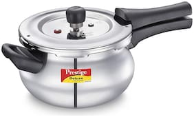 Prestige Alpha Mini Stainless Steel 3 L Induction Bottom Outer Lid Pressure Cooker - Set of 1 , ISI Certified