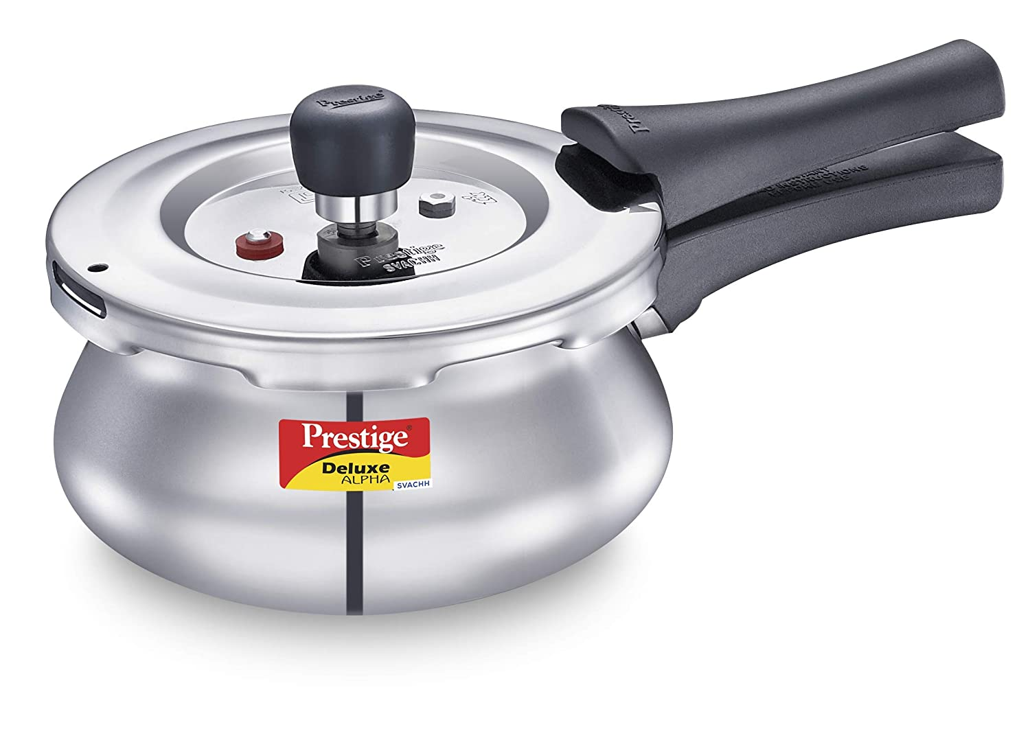 Prestige Deluxe Alpha Stainless Steel Pressure Handi with Glass Lid, 1.5 Litres,...