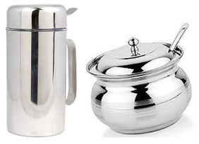 Stainless Steel Oil Dispenser with Free 1 Ghee POT