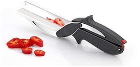 Stainless Steel Vegetables Clever Cutter Knife and Cutting Board for Kitchen Vegetables Cutter