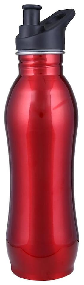Lavi 500 ml Stainless steel Red Water bottles - 1 pc
