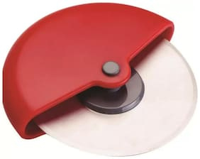 Stainless Steel Round Pizza Cutter / Pizza Slicer (Color May Vary) (1Pc)