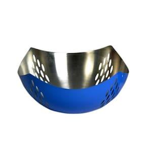 Stainless Steel Deep blue fruit basket