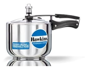 Hawkins Stainless Steel 3 L Induction Bottom Inner Lid Pressure Cooker - Set of 1 ,