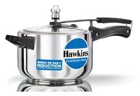 Hawkins 4 L Inner Lid Pressure Cooker Induction Bottom ( Silver , Stainless Steel , Set of 1 )