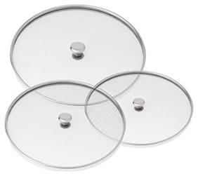 Stainless Steel  Net Cover Food Cover (Multi Purpose Strainer) Set Of 3