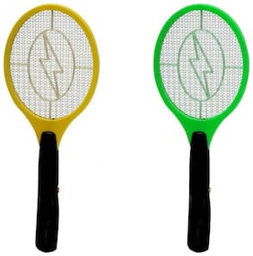 Starvis Rechargable Electric Mosquito Fly Insect Killer Racket Zapper Bat set of 2- Assorted Color