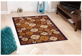 Status Brown Ermina Medium  Drawing Room Carpet- 1 Pc