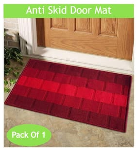 Status Red Iris Medium Door Mat Set- 1 pc
