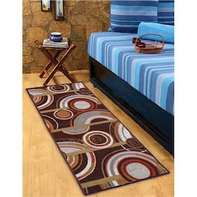 STATUS NYLON BEDSIDE RUNNER BROWN 22X55 1PC