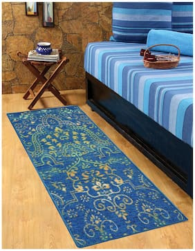 STATUS NYLON BEDSIDE RUNNER BLUE 22X55 2 pc