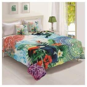 Status Polyester AC Blanket Cum Bedsheet- Multi