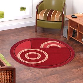 Status Red Taba Medium Round Dressing Room Carpet