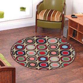 Status  Blue  Taba Medium Round Dressing Room Carpet- 1 Pc