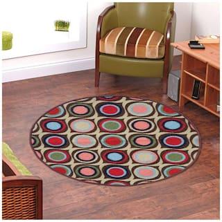 Status Blue Taba Medium Round Dressing Room Carpet- 1 pc