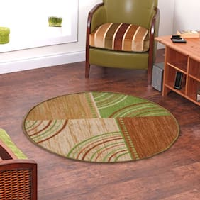 Status  Green Taba Medium Round Dressing Room Carpet- 1 Pc