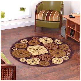 Status Brown Taba Medium Round Dressing Room Carpet- 1 pc