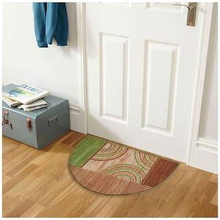 Status Green Taba D Shape Medium Floor Mat- 1 pc
