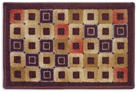 Status Brown Medium Door Mat Set- 1 pc