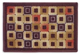Status Brown Medium Door Mat Set- 1 Pc