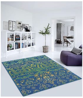 Status Green Taba Large Drawing Room Carpet (7x5 Ft) - Pack Of 1