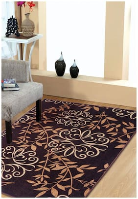 Status Brown Taba Large Drawing Room Carpet (3x5 ft) - Pack Of 1