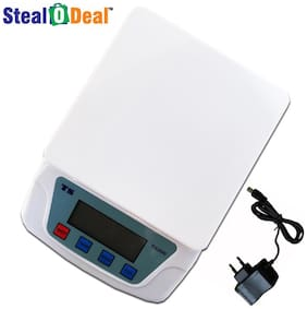 Stealodeal Ts-200v White Electronic Digital 7kg Weighing Scale