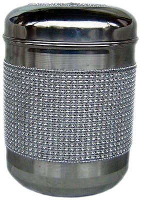 Rastogi Handicrafts 450 ml & 500 ml Silver Stainless steel Container Set - Set of 1