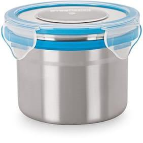 Steel Lock Silver Lunch box ( Set of 1 , 350 ml )
