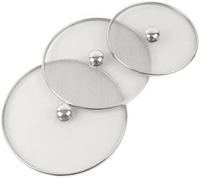 Steel Metallic Vessel Cover Set of 3 pcs (8,9,10 Inch)