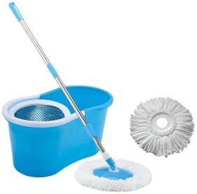 Steel Spin Mop Set (Color as per availability)