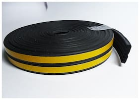 Stick&Seal E Shaped (Black) Self-Adhesive Epdm Doors And Windows Foam Seal Strip Rubber Weatherstrip 6 Meter (2 X 3 M = 6 Meter)